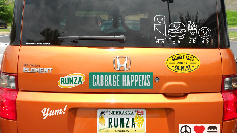 Runza bumper stickers